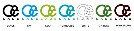 lade logo ステッカー