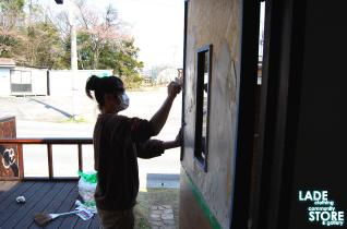 DIY 手作りドア 漆喰
